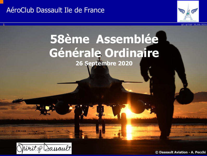Page acceuil de l'assemblée générale 2020