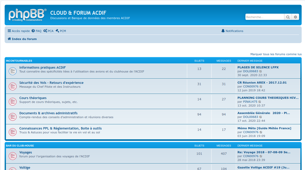 Page Index Forum